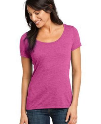 District Made 153 Ladies Textured Scoop Tee DM471 Catalog