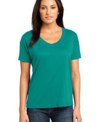 District Made 153 Ladies Modal Blend Relaxed V Neck Tee DM480 Catalog