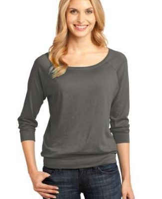 District Made 482 Ladies Modal Blend 3/4 Sleeve Raglan Catalog