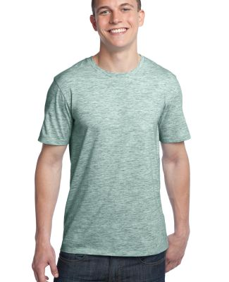 District Young Mens Extreme Heather Crew Tee DT100 Green