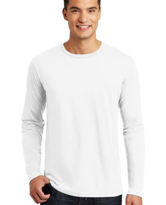 District Made 153 Mens Perfect Weight Long Sleeve  Bright White