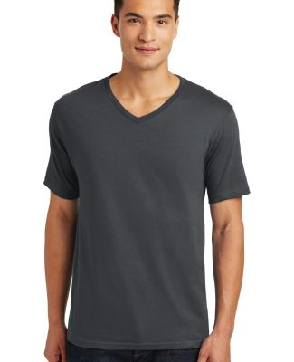 District Made 153 Mens Perfect Weight V Neck Tee D Charcoal