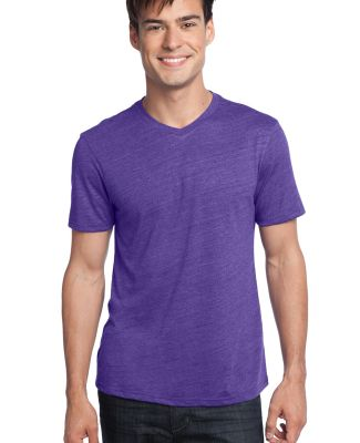 District Young Mens Textured Notch Crew Tee DT172 Purple