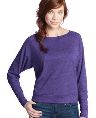 District Juniors Textured Wide Neck Long Sleeve Raglan DT272 Catalog