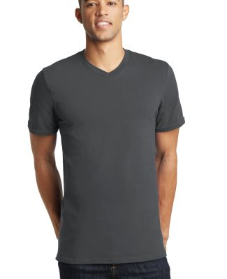 District Young Mens Concert V Neck Tee DT5500 Charcoal