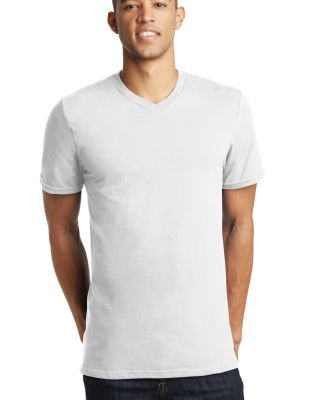 District Young Mens Concert V Neck Tee DT5500 White