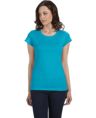 BELLA 8101 Womens Long Sheer T-shirt TURQUOISE