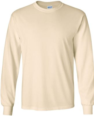 2400 Gildan Ultra Cotton Long Sleeve T Shirt  NATURAL