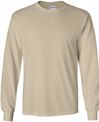 2400 Gildan Ultra Cotton Long Sleeve T Shirt  SAND