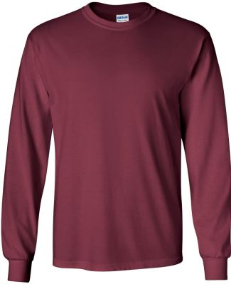 2400 Gildan Ultra Cotton Long Sleeve T Shirt  MAROON