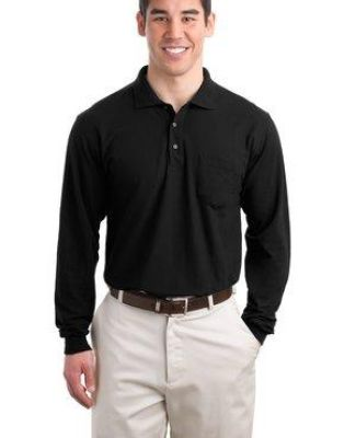 Port Authority Long Sleeve Silk Touch153 Polo with Pocket K500LSP Catalog