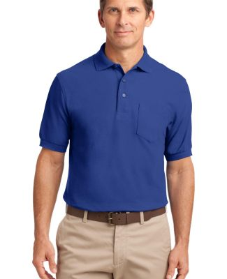 Port Authority Silk Touch153 Polo with Pocket K500 Royal