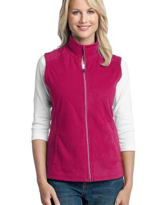 Port Authority Ladies Microfleece Vest L226 Dark Fuchsia