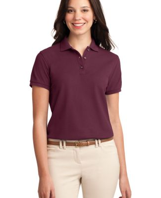 Port Authority Ladies Silk Touch153 Polo L500 Burgundy