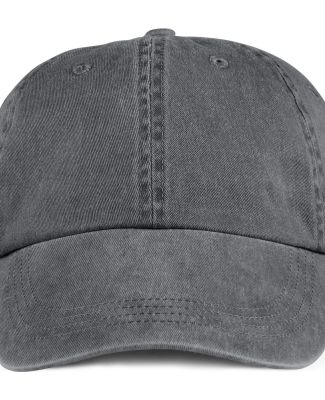 Anvil 146 Pigment-Dyed Unstructured Dad Hat Charcoal