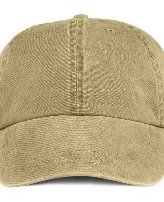 Anvil 146 Pigment-Dyed Unstructured Dad Hat Khaki