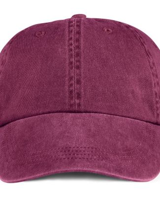 Anvil 146 Pigment-Dyed Unstructured Dad Hat Raspberry