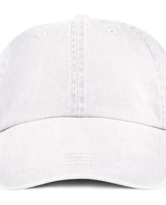 Anvil 146 Pigment-Dyed Unstructured Dad Hat White