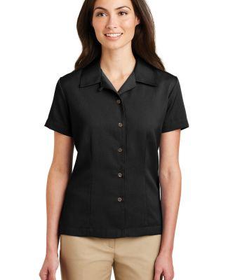 Port Authority Ladies Easy Care Camp Shirt L535 Black