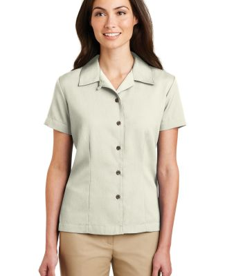 Port Authority Ladies Easy Care Camp Shirt L535 Ivory