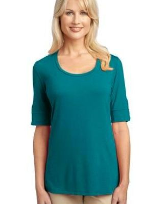 Port Authority Ladies Concept Scoop Neck Shirt L541 Catalog