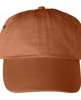 Anvil 156 Unstructured Twill Dad Hat T.Orange