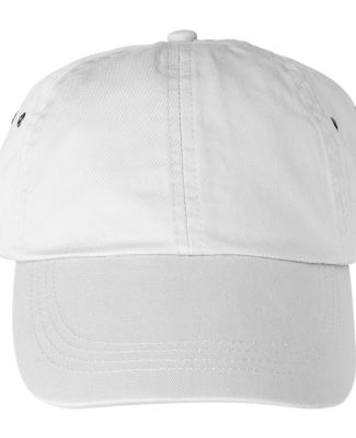 Anvil 156 Unstructured Twill Dad Hat White