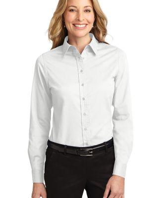 Port Authority Ladies Long Sleeve Easy Care Shirt  White/Lt Stone