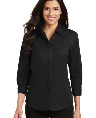 Port Authority Ladies 34 Sleeve Easy Care Shirt L6 Black