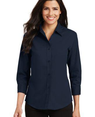 Port Authority Ladies 34 Sleeve Easy Care Shirt L6 Navy