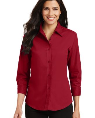 Port Authority Ladies 34 Sleeve Easy Care Shirt L6 Red