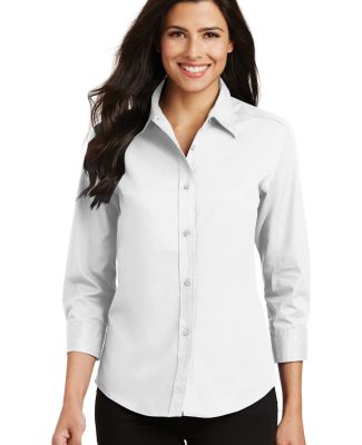 Port Authority Ladies 34 Sleeve Easy Care Shirt L6 White