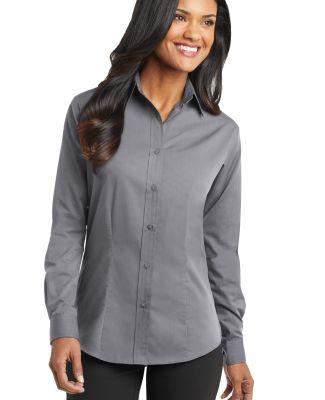 Port Authority Ladies Tonal Pattern Easy Care Shir Grey