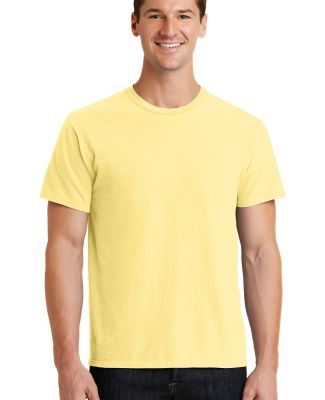 Port  Company Essential Pigment Dyed Tee PC099 Popcorn