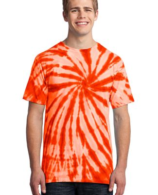 Port  Company Essential Tie Dye Tee PC147 Orange