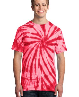 Port  Company Essential Tie Dye Tee PC147 Red