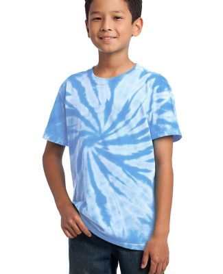 Port  Company Youth Essential Tie Dye Tee PC147Y Light Blue