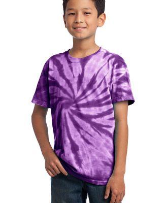 Port  Company Youth Essential Tie Dye Tee PC147Y Purple