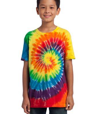 Port  Company Youth Essential Tie Dye Tee PC147Y Rainbow
