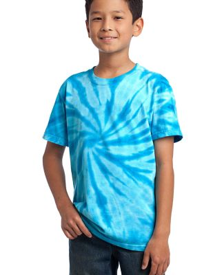 Port  Company Youth Essential Tie Dye Tee PC147Y Turquoise