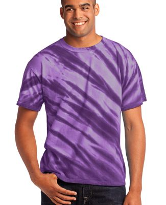 Port  Company Essential Tiger Stripe Tie Dye Tee P Purple