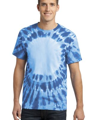 Port  Company Essential Window Tie Dye Tee PC149 Royal