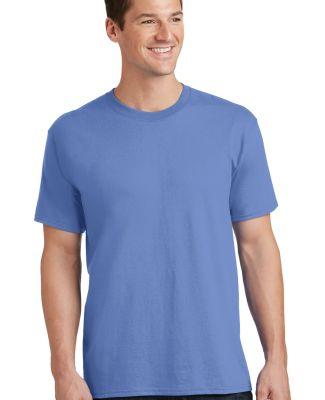Port  Company PC54 5.4 oz 100 Cotton T Shirt  Carolina Blue