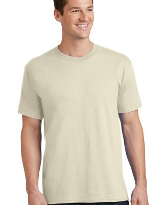 Port  Company PC54 5.4 oz 100 Cotton T Shirt  Natural