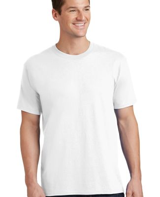 Port  Company PC54 5.4 oz 100 Cotton T Shirt  White