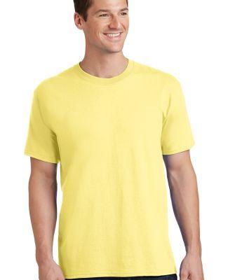 Port  Company PC54 5.4 oz 100 Cotton T Shirt  Yellow
