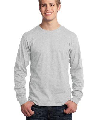 Port  Company Long Sleeve 54 oz 100 Cotton T Shirt Ash