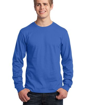Port  Company Long Sleeve 54 oz 100 Cotton T Shirt Royal