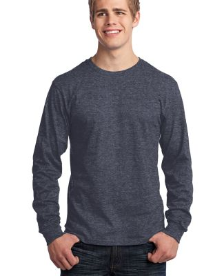 Port  Company Long Sleeve 54 oz 100 Cotton T Shirt Heather Navy