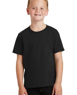 Port  Company Youth 54 oz 100 Cotton T Shirt PC54Y Jet Black